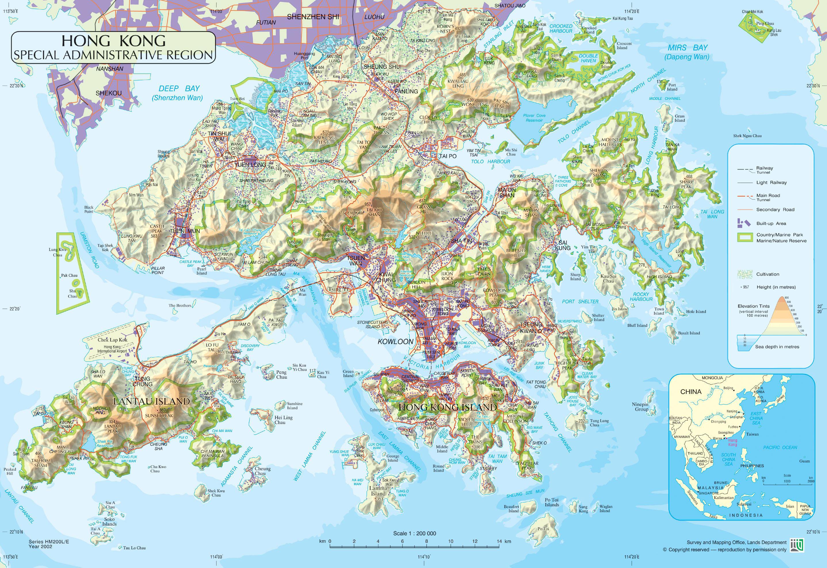 China Karte Physisch.China In Karten Ein Link Atlas